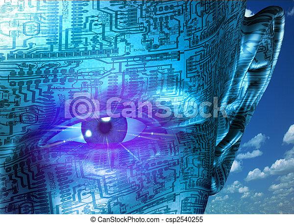 tecnologia, umano - csp2540255