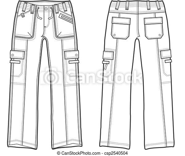 lady cargo pants - csp2540504