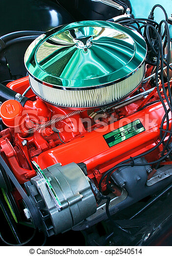 Vintage Automobile Engine - csp2540514