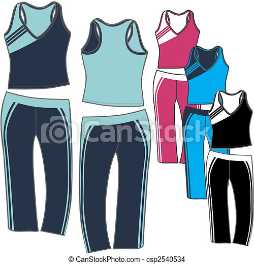 lady aerobic sporty set - csp2540534