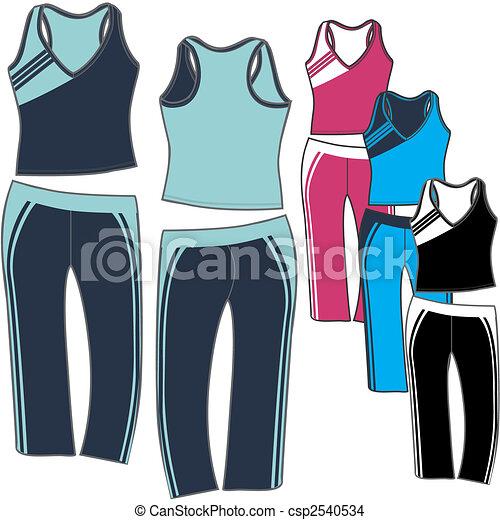 lady aerobic sporty set - csp2540534