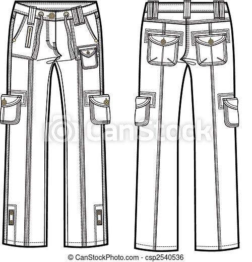 lady cargo pants - csp2540536