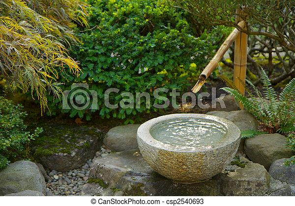 banco de fotos de japoneses jardim bambu foutain cercado verde foilage csp2540693 busca. Black Bedroom Furniture Sets. Home Design Ideas