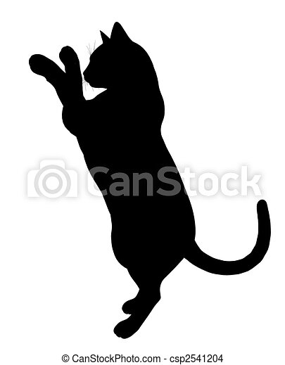 Dessin de silhouette illustration chat noir chat art - Dessin silhouette chat ...