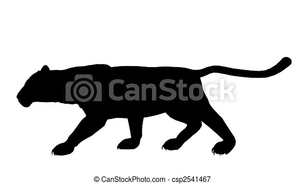 Panther Illustration Silhouette - csp2541467