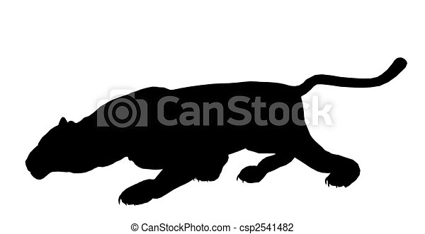 Panther Illustration Silhouette - csp2541482