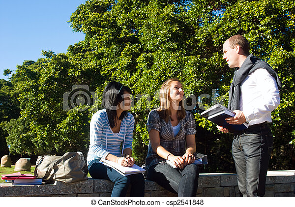 Three university students - csp2541848