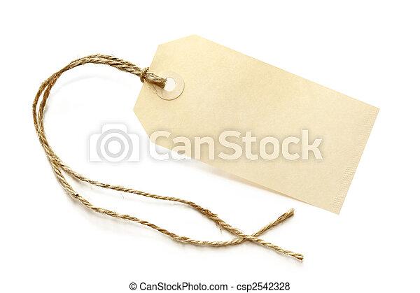 Blank Shipping Tag - csp2542328