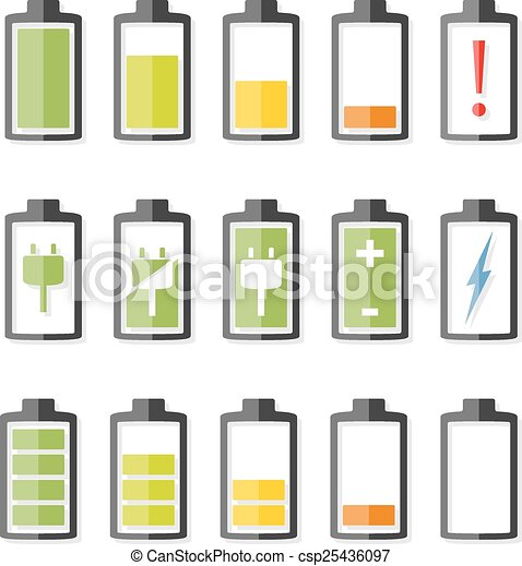 Battery Icons - csp25436097