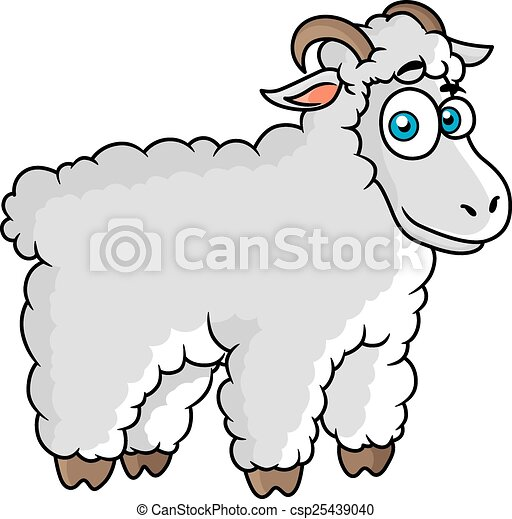Sheep Eyes Drawing Cartoon Farm Sheep Character