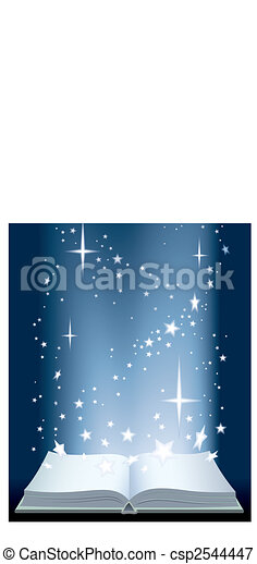 Book and shining stars - csp2544447