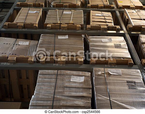 Furniture warehouse.