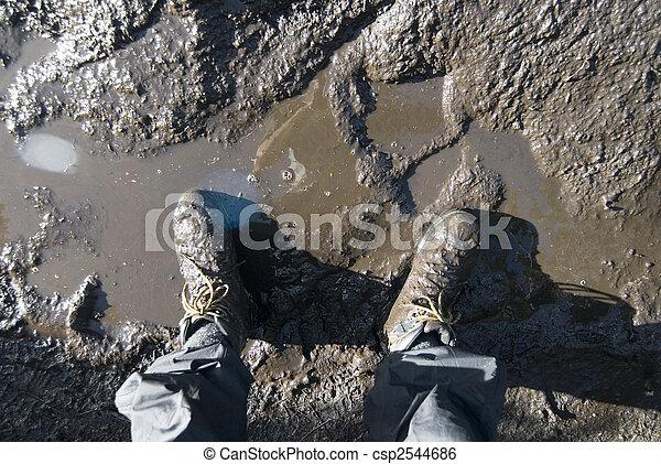 muddy boots - csp2544686
