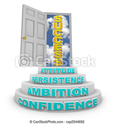 Steps Rising to Success - Open Door - csp2544692