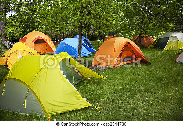 Camping sites with tents - csp2544730