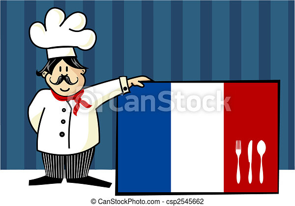 French cuisine chef illustration - csp2545662
