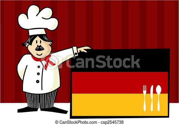 German cuisine chef illustration - csp2545738