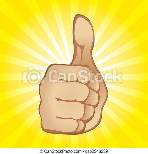 Thumb Up Gesture - csp2546239