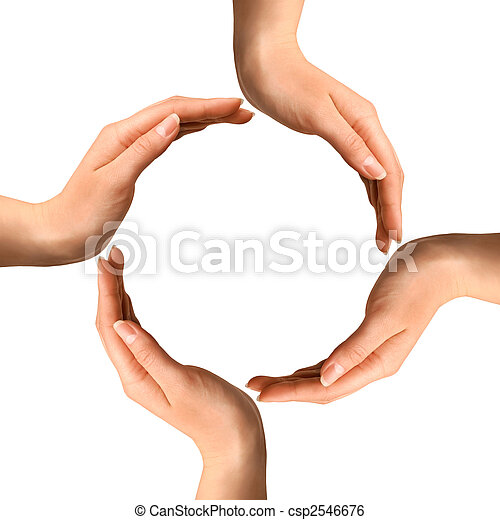 Hands Making a Circle - csp2546676