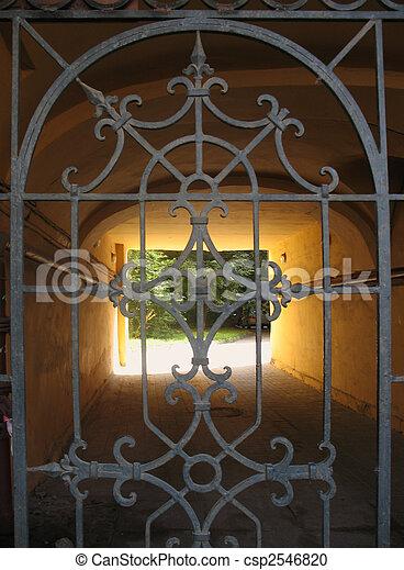 Motifs, vue, portail, Orné - csp2546820