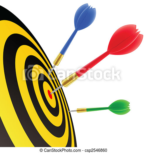 Darts hitting the target - csp2546860