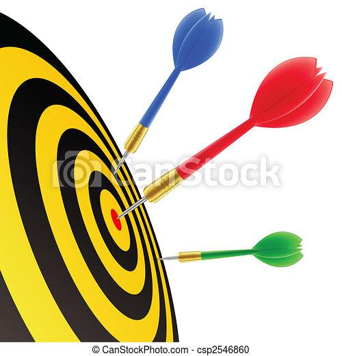 Darts hitting the target - csp2546860
