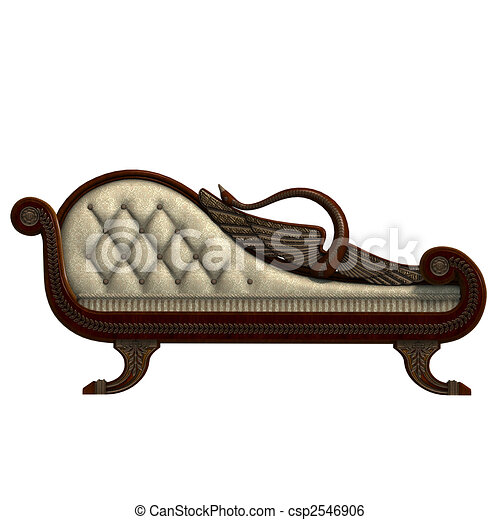 very comfortable sofa from biedermeier time - csp2546906