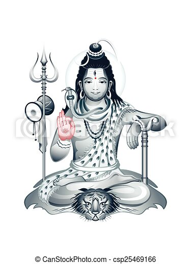 Clip Art Vector of Supreme God Shiva - Indian Supreme God Shiva ...