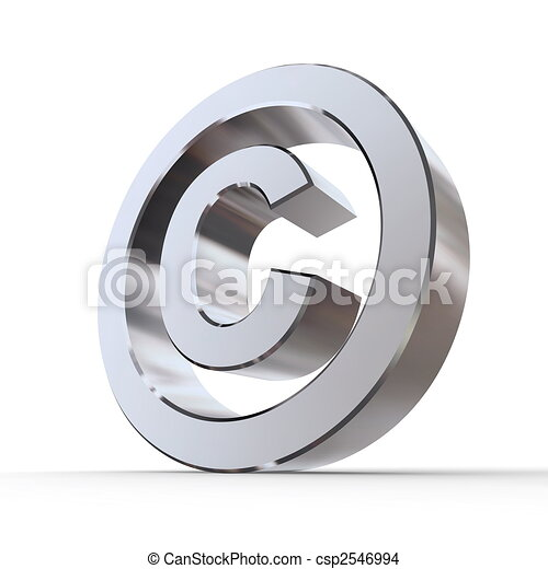 Shiny Copyright Symbol - csp2546994