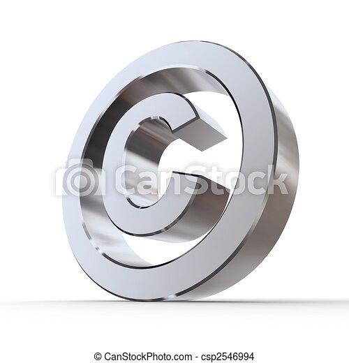 Shiny Copyright Symbol - csp2546994