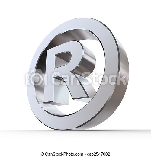 Shiny Registered Trademark Symbol - csp2547002