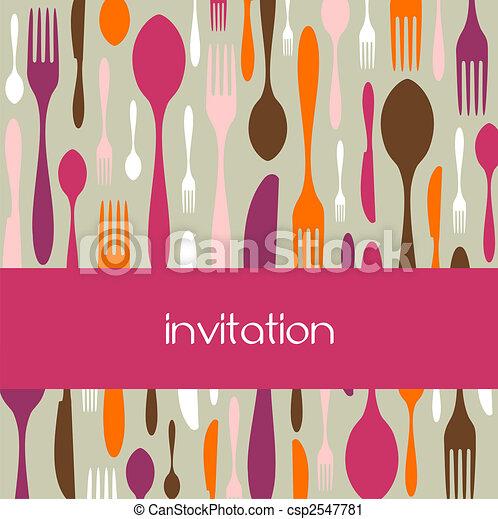Cutlery pattern invitation - csp2547781