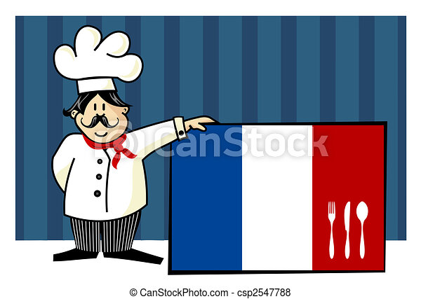 French Chef Drawing Chef of French Cuisine
