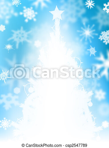 Christmas tree snow - csp2547789