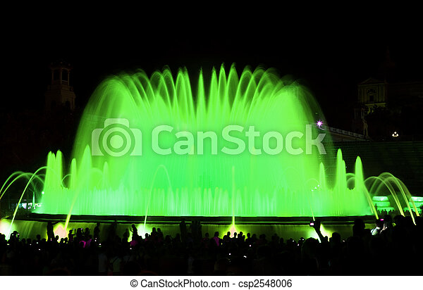 The famous Montjuic Fountain in Barcelona - csp2548006