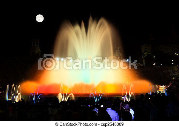 The famous Montjuic Fountain in Barcelona - csp2548009