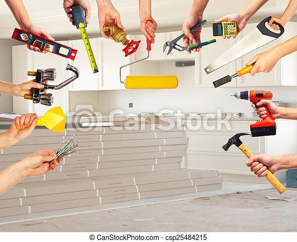 costruzione, tools., mani - csp25484215