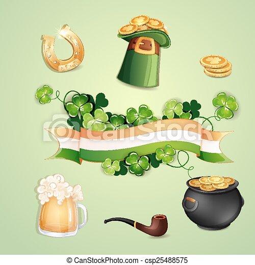 Saint Patrick's Day symbols - csp25488575