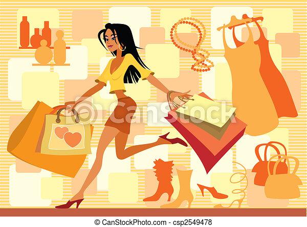 Red shopping - csp2549478