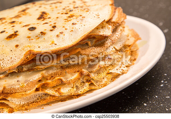 Stock photos of the stack of pancakes russian food the for Art of russian cuisine