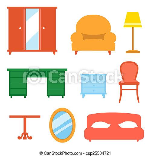 Clip art of interior indoor living room design elements for Interior design video clips