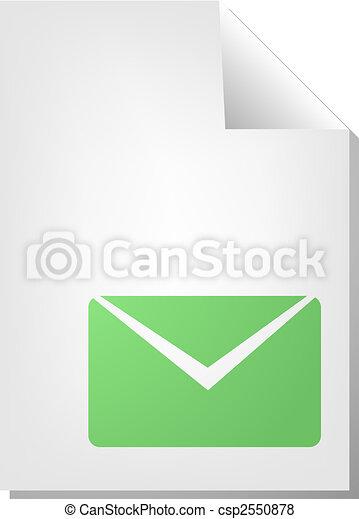 Envelope document icon - csp2550878