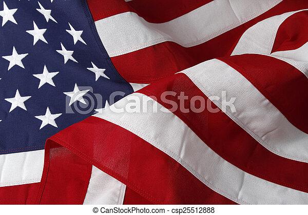 Fahne,  USA - csp25512888