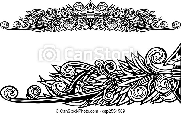Decorative Border Line Art - csp2551569