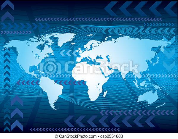 Large blue map - csp2551683