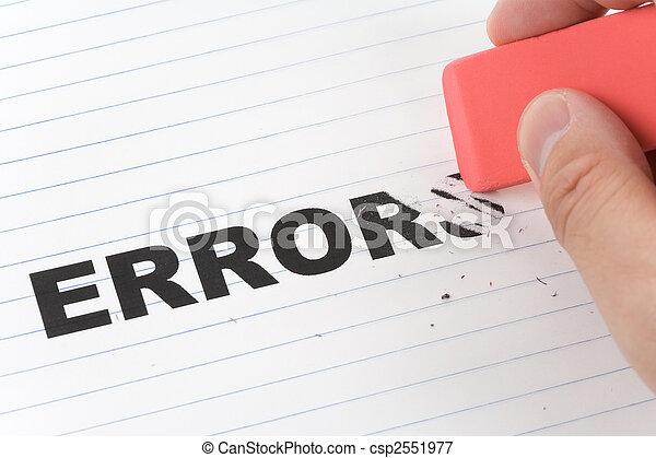 eraser and word error - csp2551977