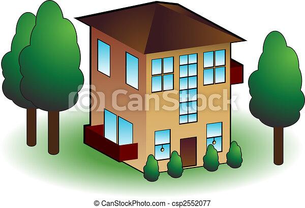 Townhouse icon - csp2552077