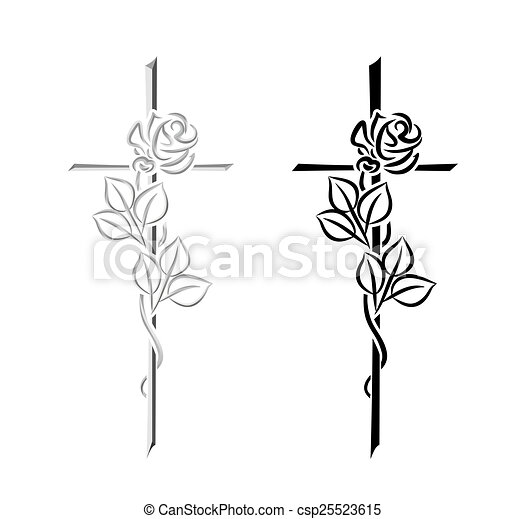 Clipart Of Condolence Decorative Elements For Condolence