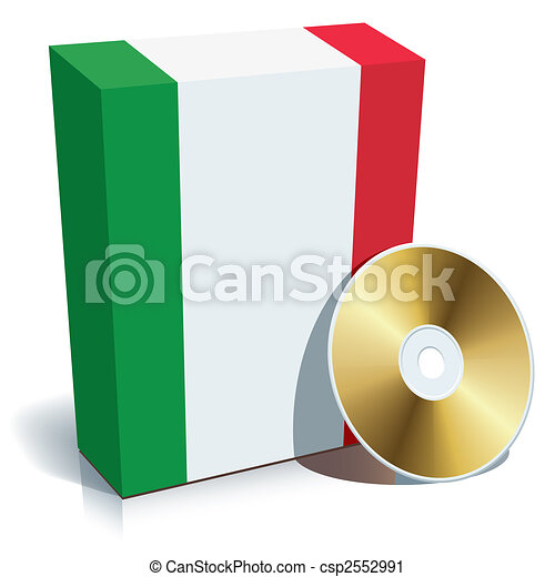 Italian software box and CD - csp2552991
