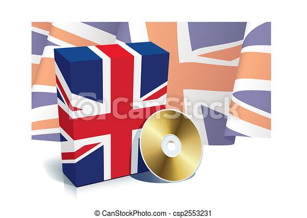 English software box and CD - csp2553231